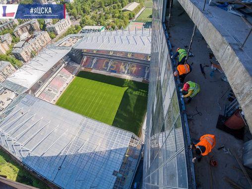 Строительство stadiona CSKA фото