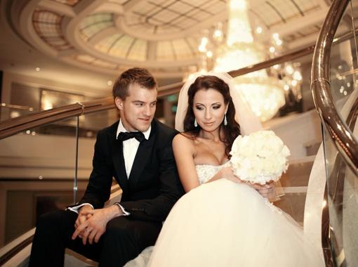 Yarmolenko и его жена Инна свадебное фото