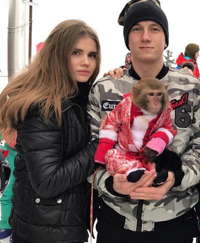 Александр Головин и Ангелина - фото на startfootball.info