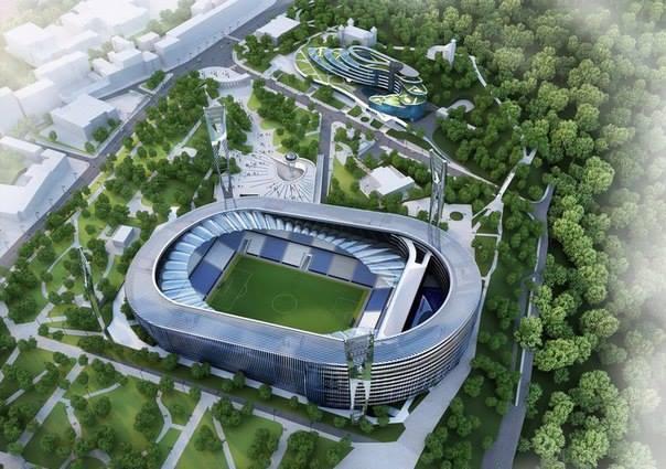 Будущая реконструкция стадиона Динамо Киев