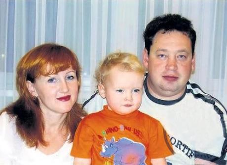 Слуцкий с женой и сыном