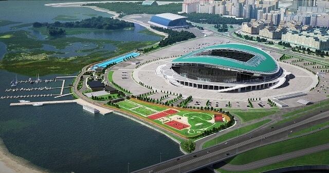 Kazan Arena фото с птичьего полета на startfootball.info