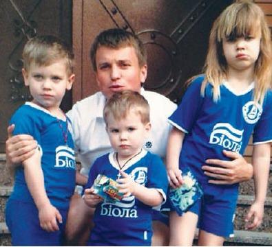 Ruslan Rotan с детьми совместное фото