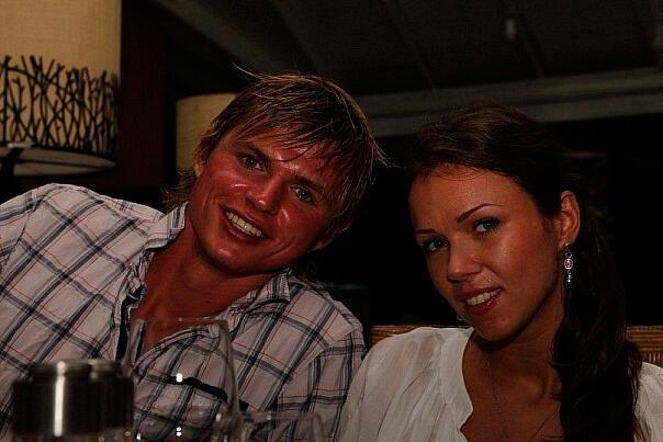 Tarasov с бывшей женой Оксаной совместное фото
