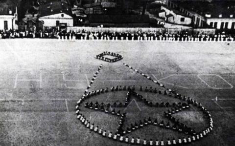 Первое открытие НСК Олимпийский 1923 год