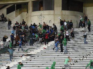 Драка фанатов в Марокко
