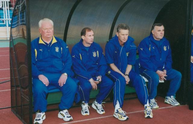 Лобановский в сборной Украины
