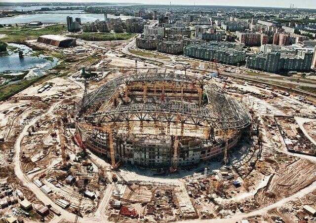 Kazan Arena строительство - фото на startfootball.info