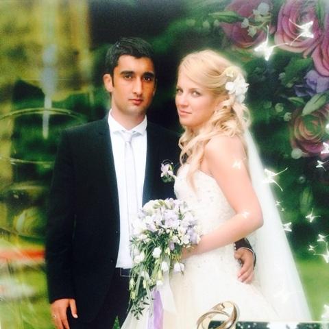 Александр Самедов с женой Юлией совместное фото