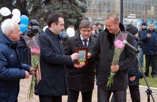 Григорчук на аллее славы Черноморца