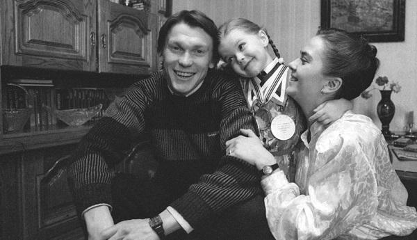 Oleg Blokhin с первой женой совместное фото