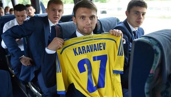 Караваев в сборной Украины