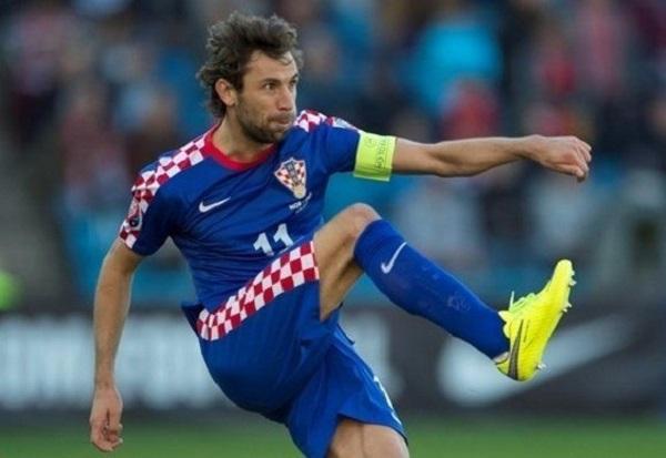 Dario Srna в сборной Хорватии фотография