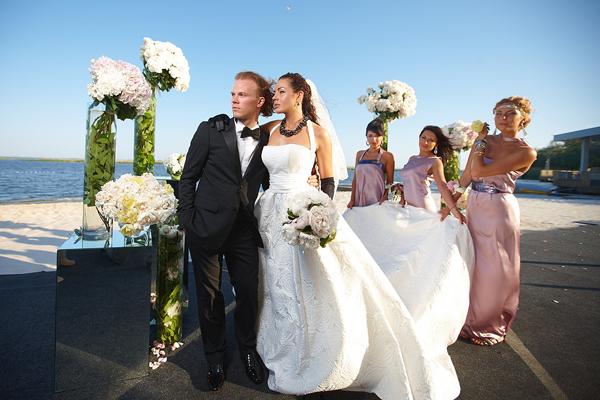 Denisova и его жена Кристина свадебное фото