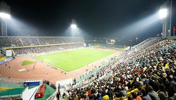 Матч на стадионе Кубань фото