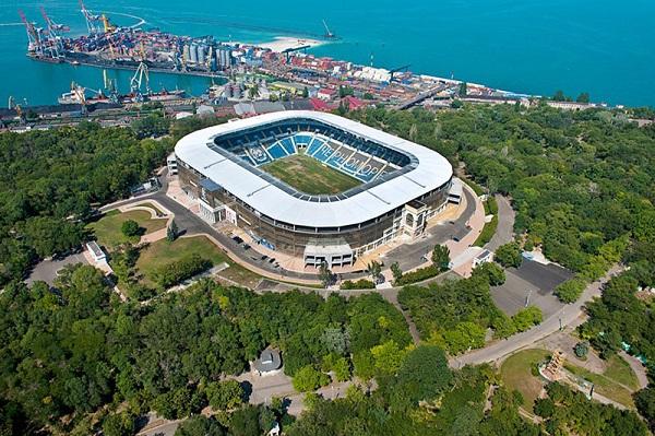 Stadion Chernomorec Odessa с высоты фотография