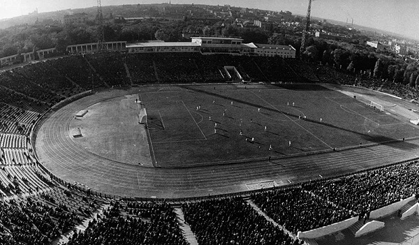 Stadium Chernomorets в 1950-х годах фотография фото