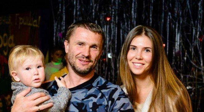 Сергей Ребров с новой женой Анной