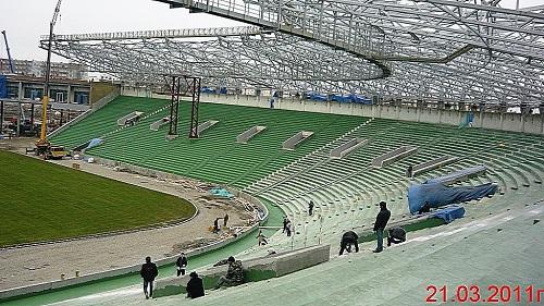 Строительство стадиона Akhmat Arena фото
