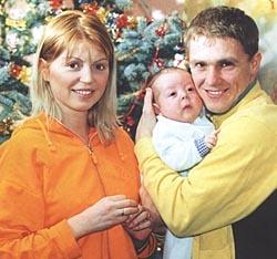 Sergey Rebrov с первой женой Людмилой фото