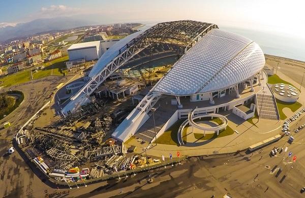 Строительство stadium Fischt фото