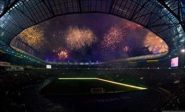 Stadion Metallist открытие 2009-г фотография