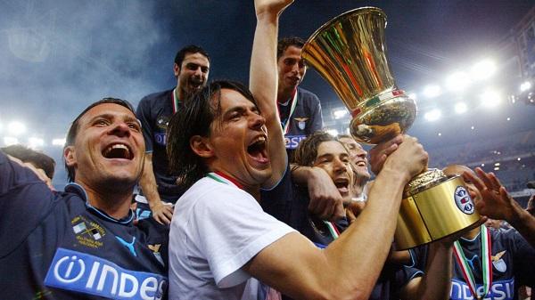 Simone Inzaghi с Кубком Италии фото