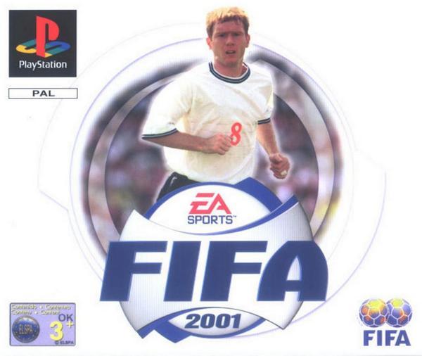 Scholes на обложке Fifa 2001