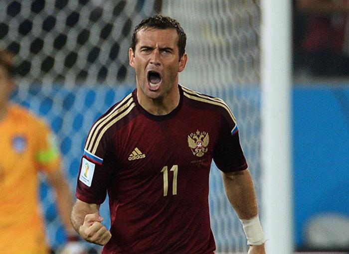 Александр Кержаков в сборной России фотография