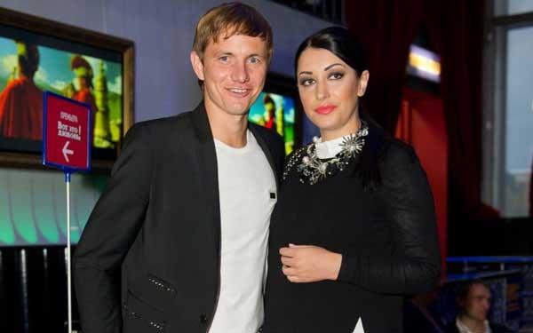 Roman Pavlyuchenko и его жена Лариса совместное фото