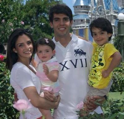 Кака и Селико с детьми - совместное фото