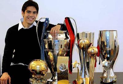 Rikardo Kaka с наградами фото