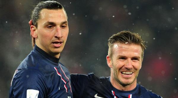 Ибрагимович и Бекхэм в составе французов - фото
