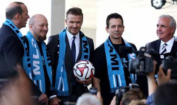 Официальное представления клуба Бекхэма фотография на startfootball.info