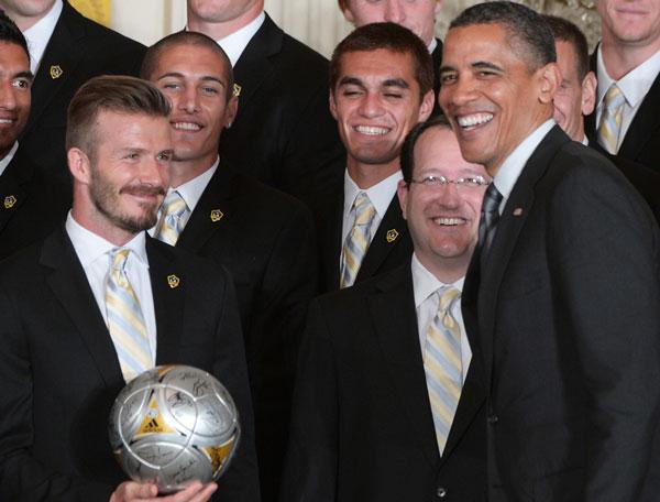 Бекхэм на приеме в Белом доме - фотография