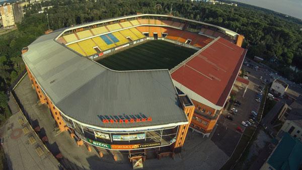 Стадион Юбилейный - история и адрес арены из города Сумы - фото на startfootball.info