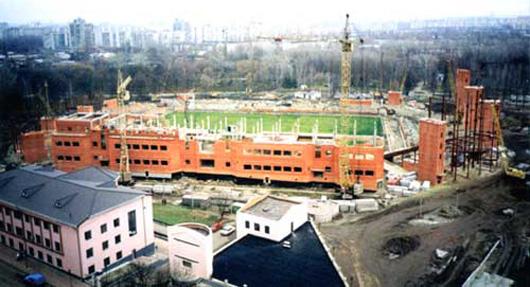 Строительство стадиона Юбилейный - фото на startfootball.info