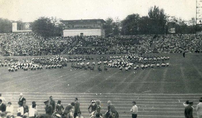 Стадион Металлург 1970 год - фото на startfootball.info