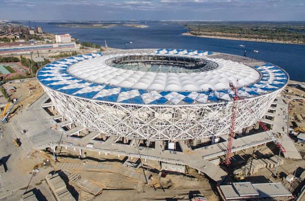 Стоительство арены в Волгограде - фото на startfootball.info
