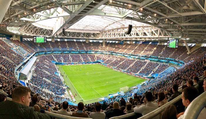Игры на Газпром Арена - фото на startfootball.info