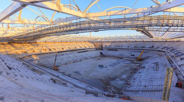 Стройка Rostov Arena внутри - фото на startfootball.info