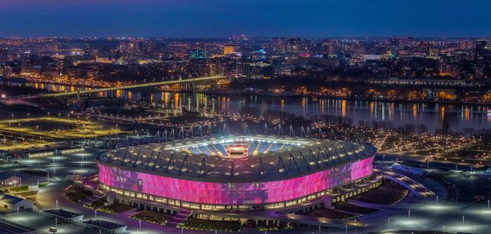 Ростов Арена ночью - фото на startfootball.info