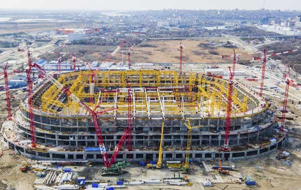 Ростов Арена, строительство - фото на startfootball.info