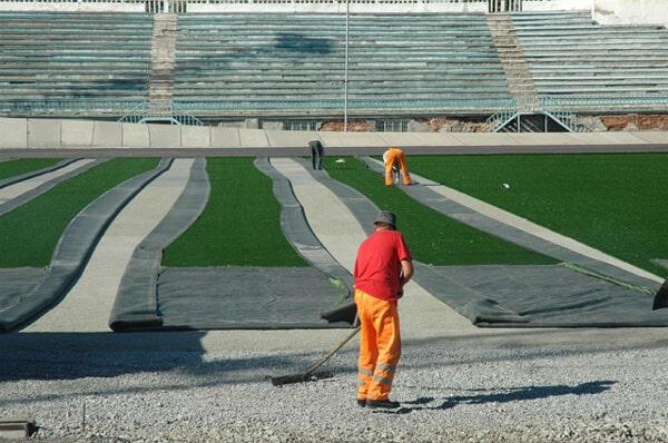 Как делают полосы на футбольном поле - фото на startfootball.info