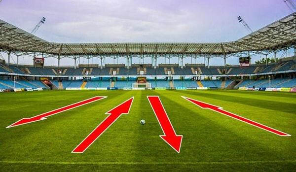 Полосы на футбольном газоне - картинка на startfootball.info