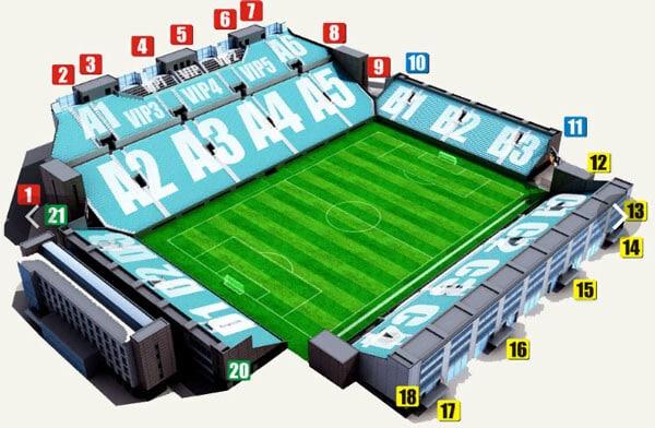 Арена Химки сектора - фото на startfootball.info