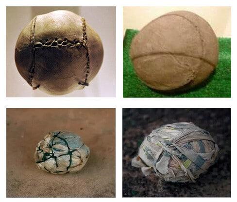 Такими были первые футбольные мячи - фото на startfootball.info