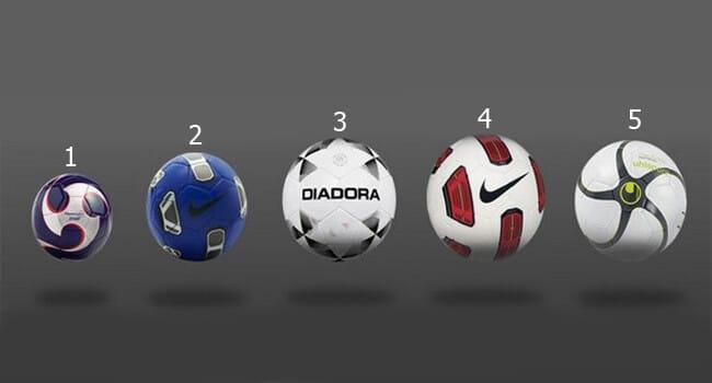 Размеры футбольного мяча - 1,2,3,4,5 фото на startfootball.info