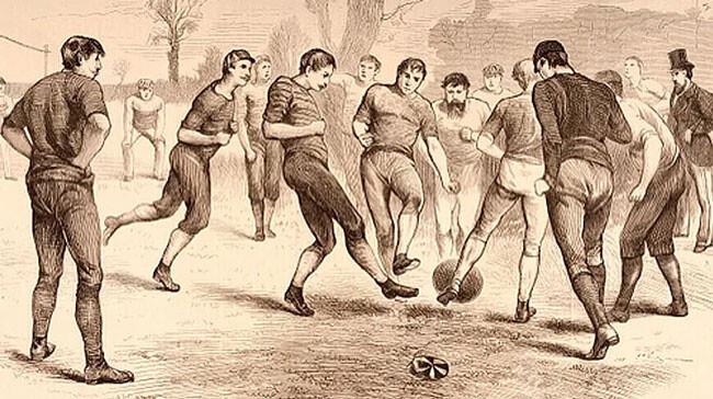 Игра в футбол 1860-70 гг.