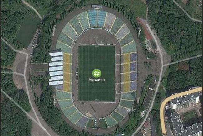 Stadion Украина вид сверху
